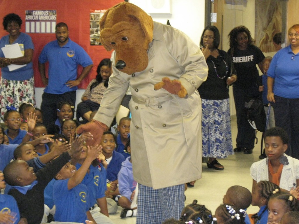 McGruff, the crime dog, visits our campus