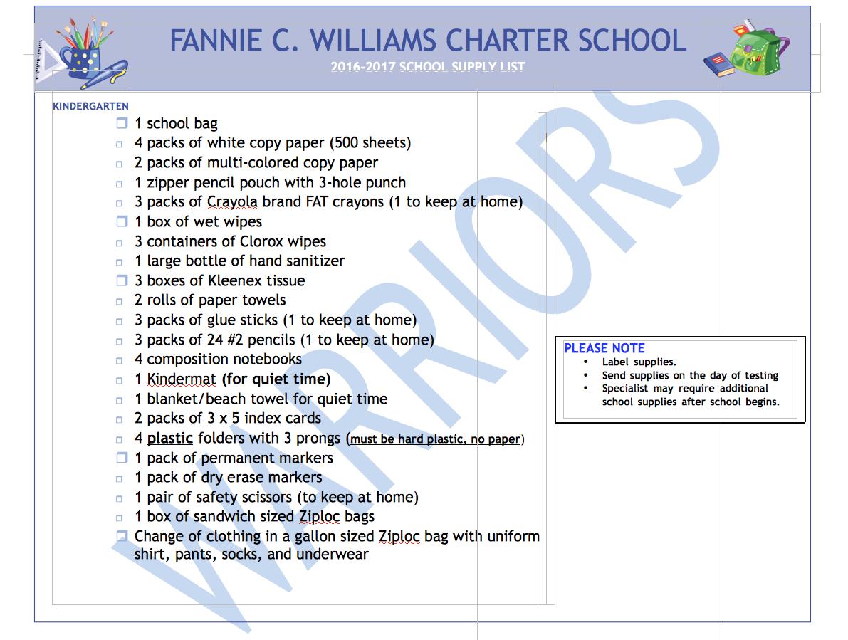 fcwcs kindergarten 2016-17 supply list