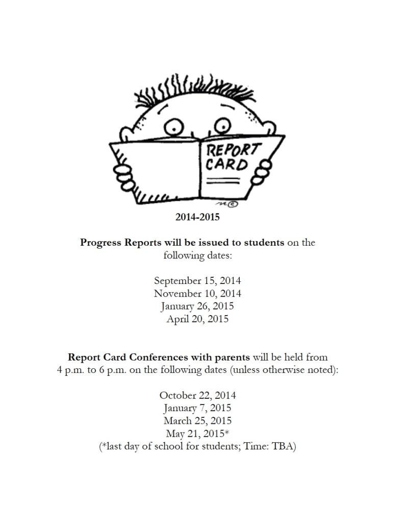 report card 2014-15